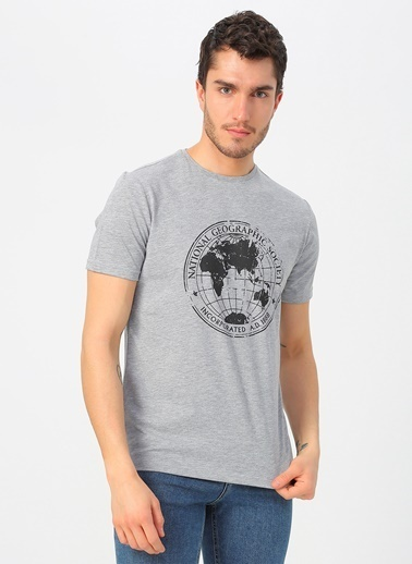 National Geographic National Geographic Gri Melanj T-Shirt Gri